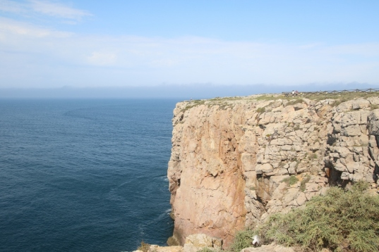The dramatic cliffs at Sagres