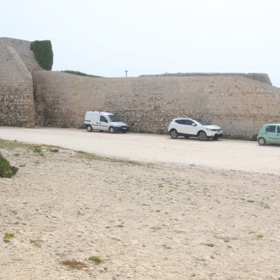 The wall off the fortress at