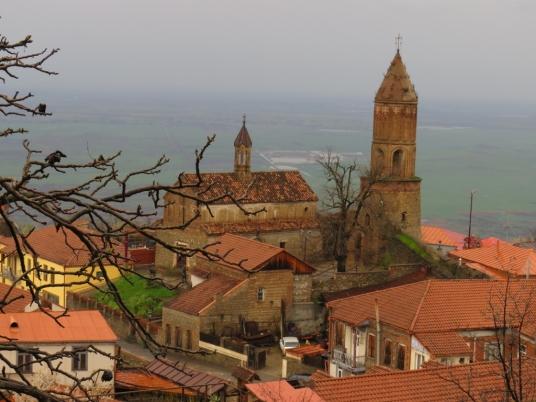 beautiful view toward the church