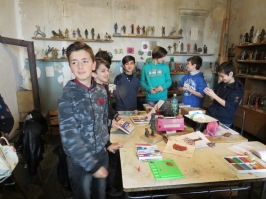 students at the art school