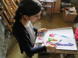 student do painting