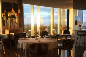 The view of the restaurant