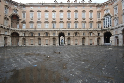 The courtyards of the palace