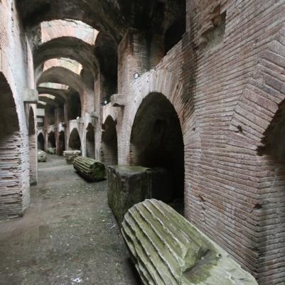 Pillars down in the basement halls