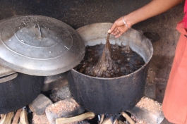 Boiling the cocoons