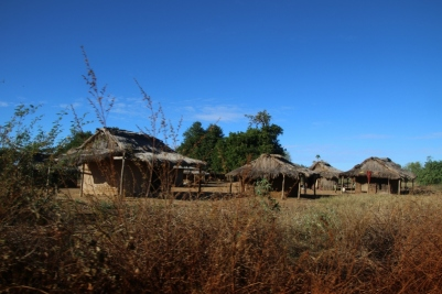 Village along the road