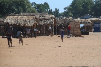 Village at the ferry crossing