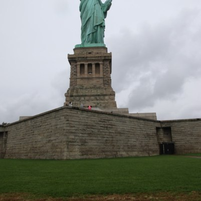 The statue standing on top of the old fort