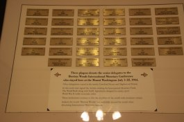 Plaque of participants