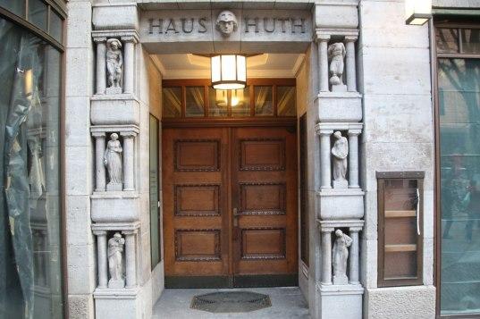 Door in the street of the market