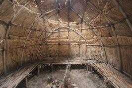 Inside summer hut